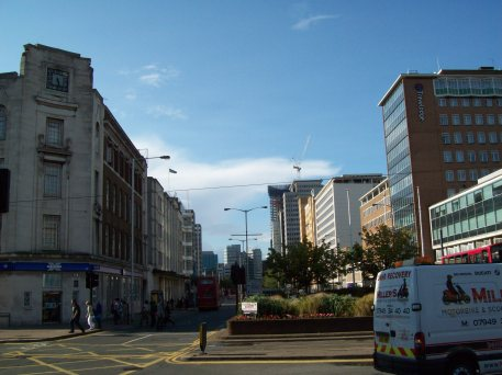 View down street at junction with Wellesley Rd