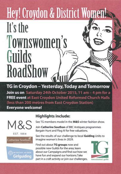 Croydon RoadShow Flyer page 1