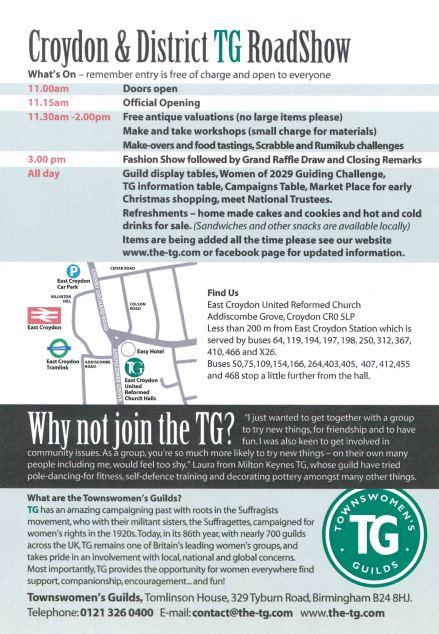 Croydon RoadShow Flyer page 2