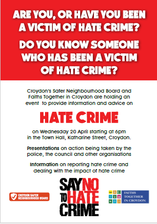 Hate Crime 20 April