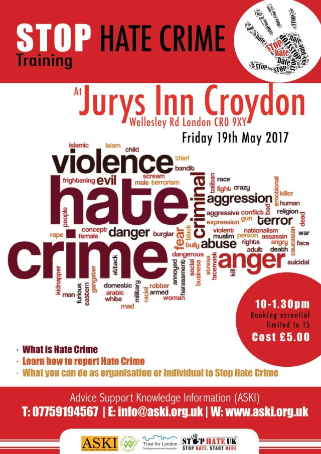 Stop Hate Crime 19 May