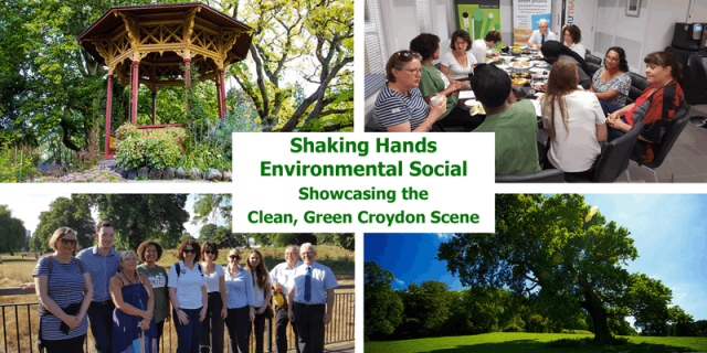 Shaking Hands Green