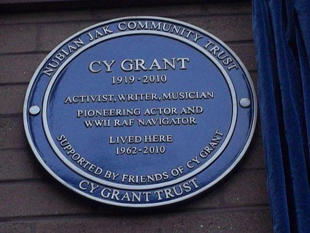 Cy Grant Plaque