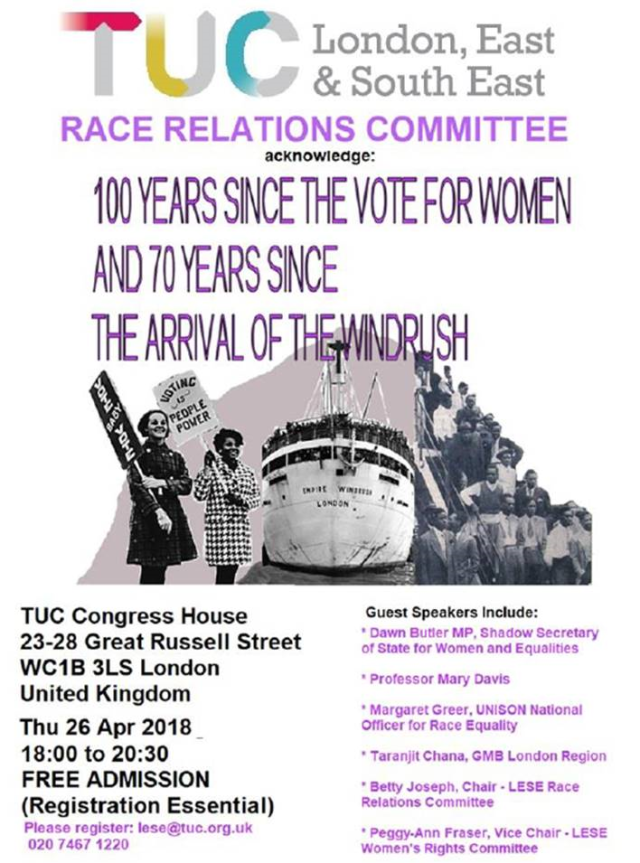 TUC women and Windrush