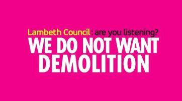 LBL we don't want demolition