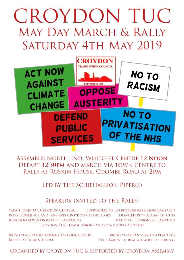 Croydon TUC May Day 2019 jpg